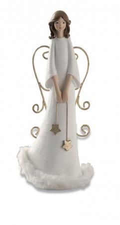 ANGELO SLIM  BIANCO / ORO H.22 cm Natale