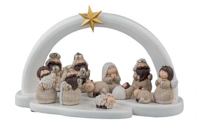 PRESEPE 11 SOGGETTI H.14/L.27 CM Natale