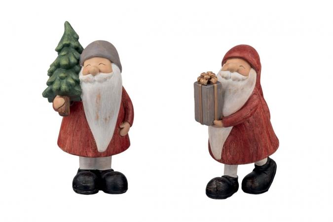 BABBO NATALE 2 SOGGETTI H.15CM Natale