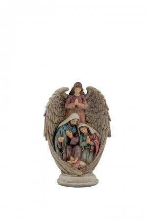 NATIVITA' CON ANGELO H.26CM Natale