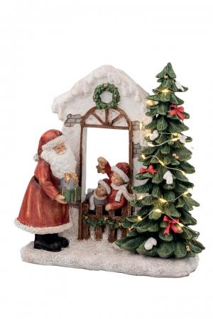 BABBO NATALE CON ALBERO LED H.22CM Natale