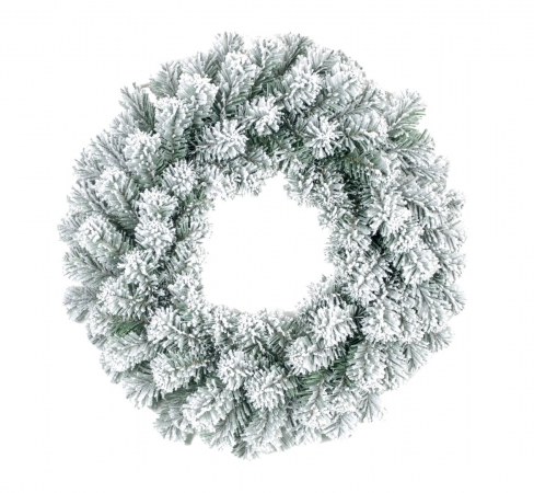 GHIRLANDA INNEVATA  Ø 30 CM Natale